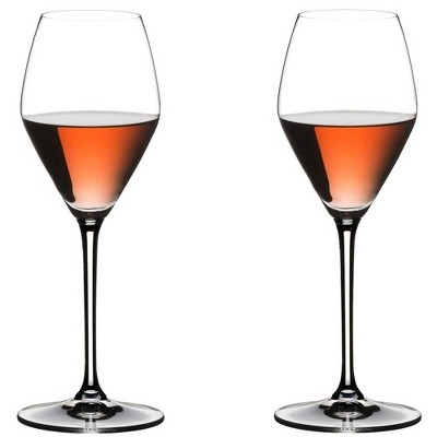 Riedel 11.35 Ounce Extreme Rose Clear Crystal Champagne Red Pink Wine Glass Set for Blush, Sparkling, and Dessert Wines, Set of 2