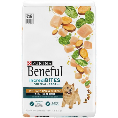 Purina Beneful IncrediBites With Real Chicken Small Dog Adult Dry Dog Food - image 1 of 4