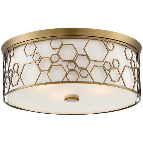 "Minka Lavery 845 4 Light 17"" Wide Flush Mount Drum Ceiling Fixture - image 1 of 1"