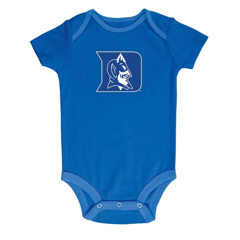 NCAA Baby Boys' 3pk Bodysuit Duke Blue Devils - 3-6M, Multicolored