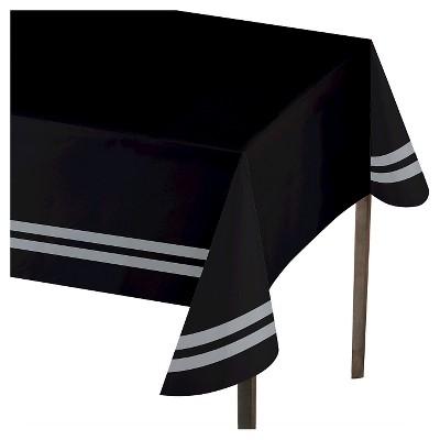 sc 1 st  Target & Gray Stripe Border Black Table Cover - Spritz™ : Target