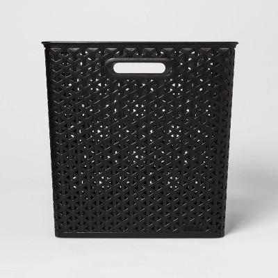 Y-Weave Cube Storage Basket Black 13  - Room Essentials™