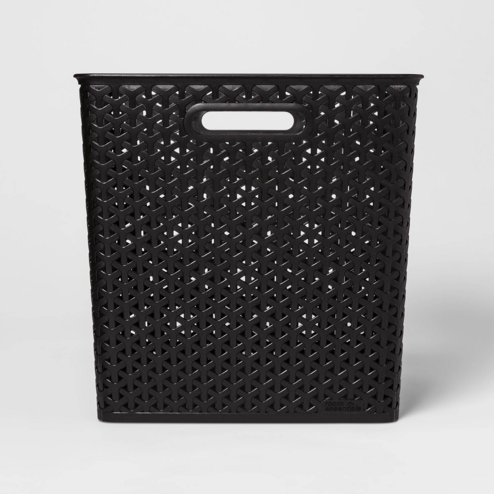 pre order new style factory authentic Y Weave Cube Storage Basket Black 13 Room Essentials