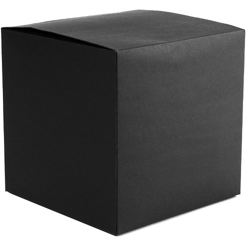 "30 Pack Black Cardboard Paper Gift Boxes with Lid 5.75""x5.75""x5.75"" for Gift, Cupcake, Bridesmaid Proposal, Wedding Party Favor - image 1 of 2"