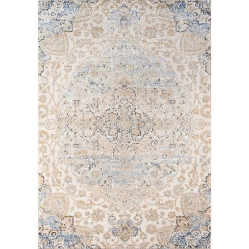 """Beige Abstract Loomed Area Rug - (5'3""""x7'6"""") - image 1 of 5"""
