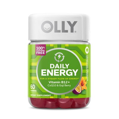 OLLY Energy Daily Dietary Caffein-Free Gummies - Tropical Passion - 60ct