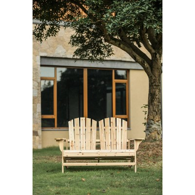 Wood Adirondack Love Seat - Patio Festival