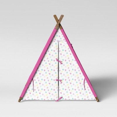 A Frame Tent Hearts White/Pink - Pillowfort™