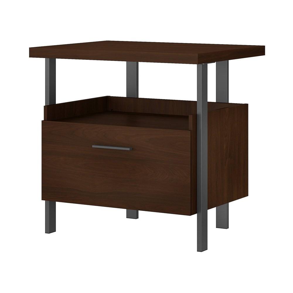 Image of 1 Architect Drawer File Cabinet Modern Walnut - Bush Furniture