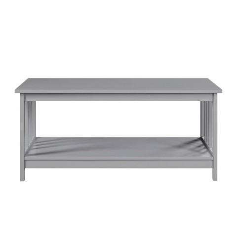 Mission Coffee Table Gray Johar Furniture