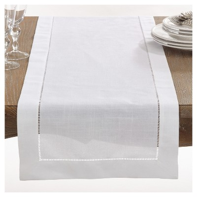White Rochester Table Runner (16 x120 )- Saro Lifestyle®