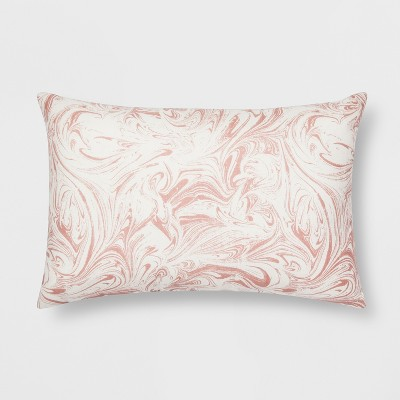 Pink Marble Lumbar Throw Pillow - Room Essentials™