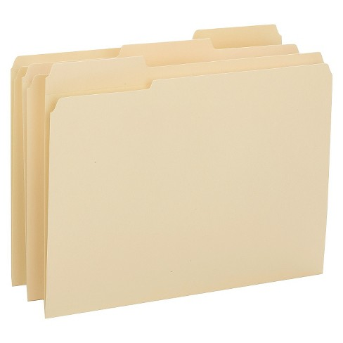 Smead® Reinforced Tab Manila File Folder, 1/3 Cut Top Tab, Letter, 100/Box - image 1 of 1