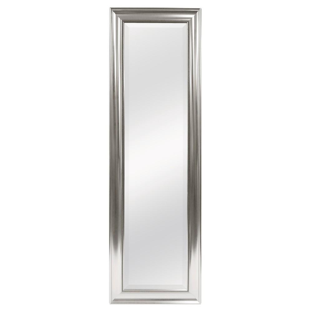 Image of Rectangle Beaded Door Mirror Silver - Mcs