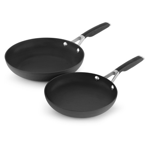 """Calphalon 8"""" and 10"""" Hard-Anodized Non-Stick Frying Pan Set - image 1 of 4"""