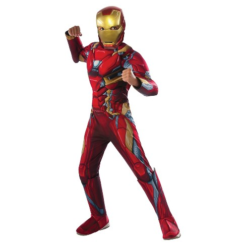 Captain America: Civil War Kids' Deluxe Iron Man Costume - image 1 of 1