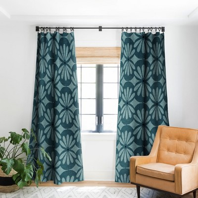 Heather Dutton Solstice Teal Single Panel Blackout Window Curtain - Deny Designs