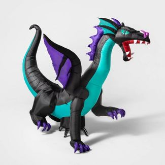 6' LED Blue Dragon Inflatable Halloween Decoration - Hyde & EEK! Boutique™