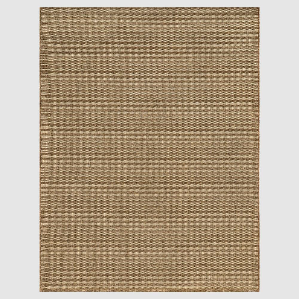 Hickory Stripe Outdoor Rug - 8'x10' - Smith & Hawken, Beige