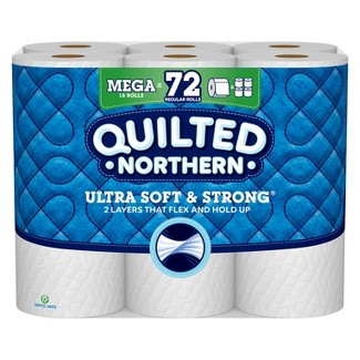 Quilted Northern Ultra Soft & Strong With Clean Stretch Toilet Paper - 18 Mega Rolls