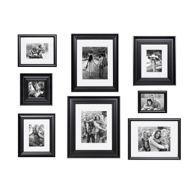 8pc Odessa Frame Box Set Black - Kate & Laurel All Things Decor