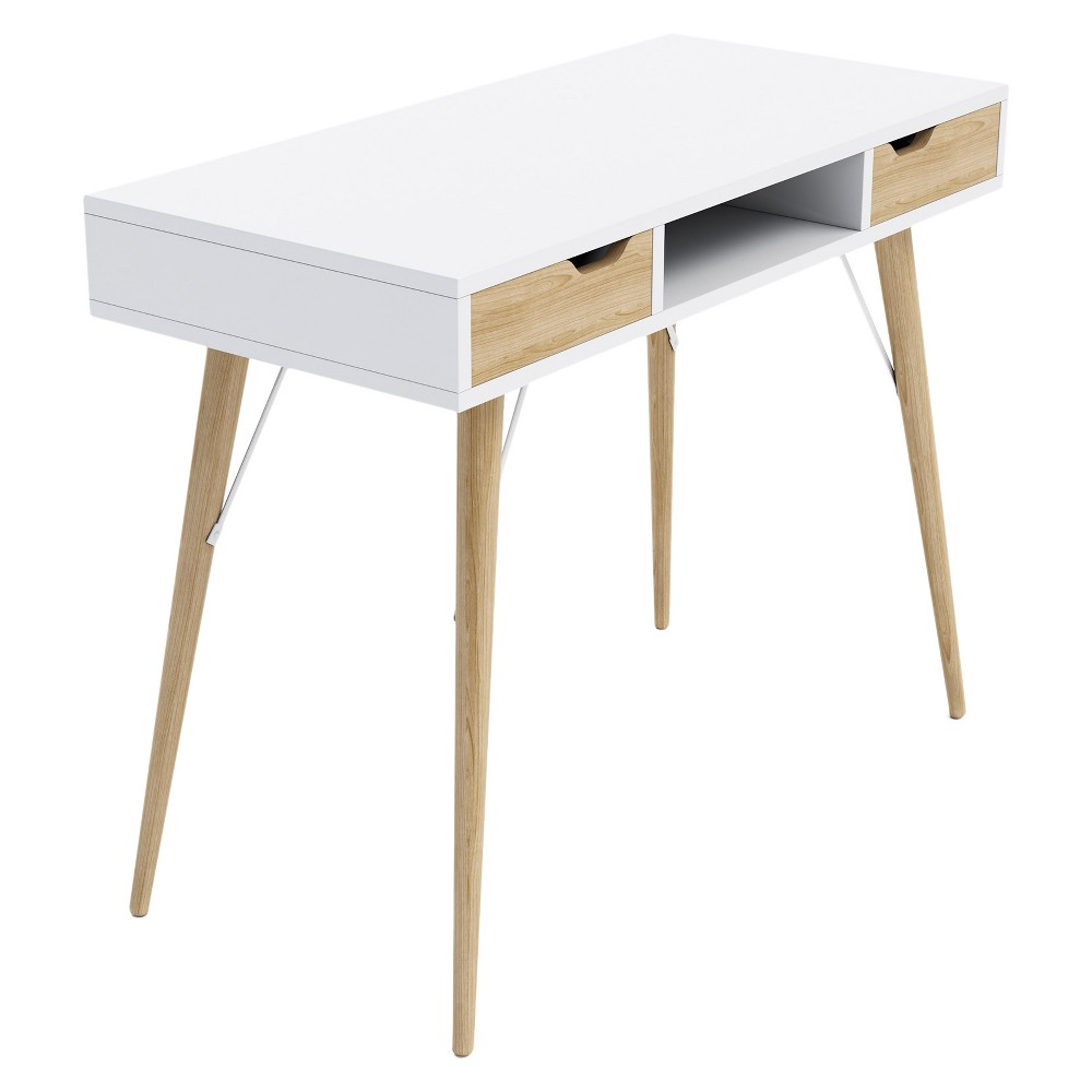 Blythe 2 Drawer Console Table And Writing Desk White - Jamesdar