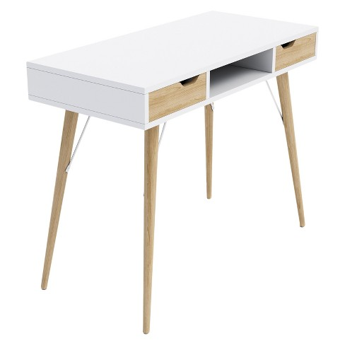 Blythe 2 Drawer Console Table And Writing Desk White Jamesdar