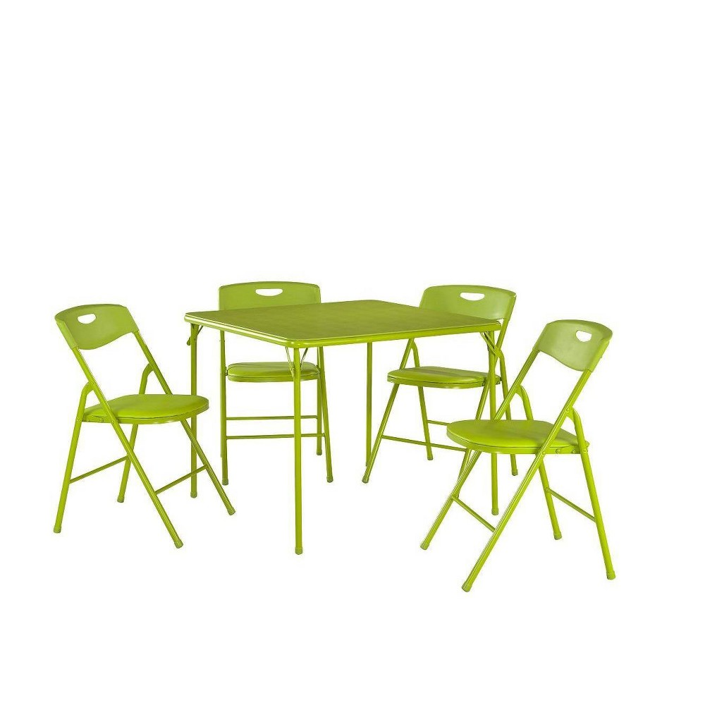 Image of 5pc Folding Table and Chair Set Apple Green - Room & Joy