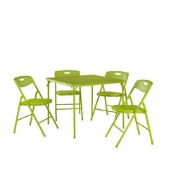 5pc Folding Table and Chair Set Apple Green - Room & Joy