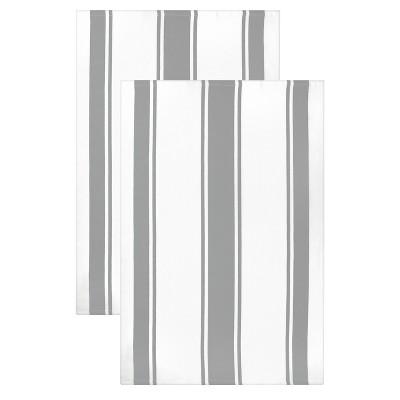 """20""""x 30"""" 2pk Kitchen Towel Light Gray - MUkitchen"""