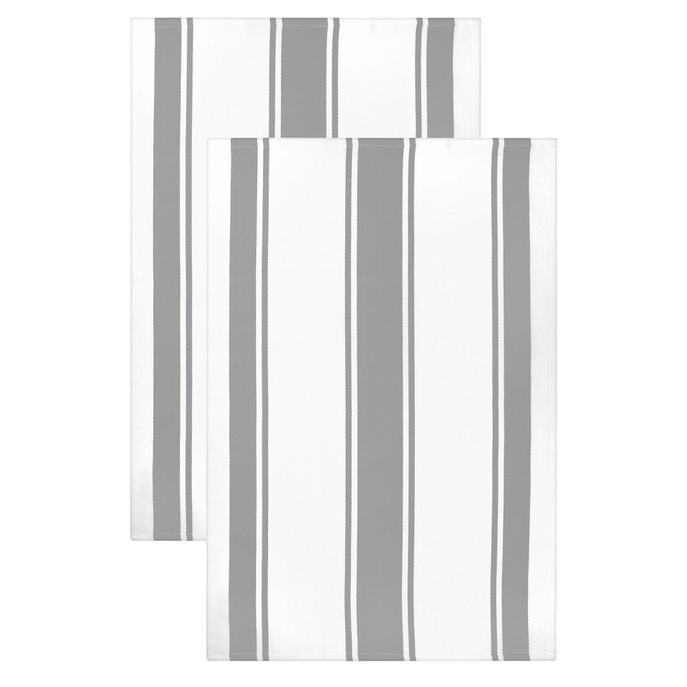 """Image of """"20""""""""x 30"""""""" 2pk Kitchen Towel Light Gray - MUkitchen"""""""