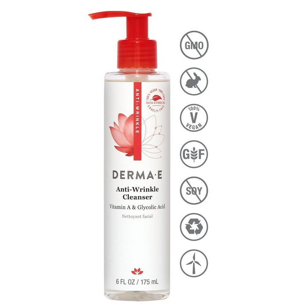 Image of DERMA E Anti Wrinkle Cleanser - 6 fl oz