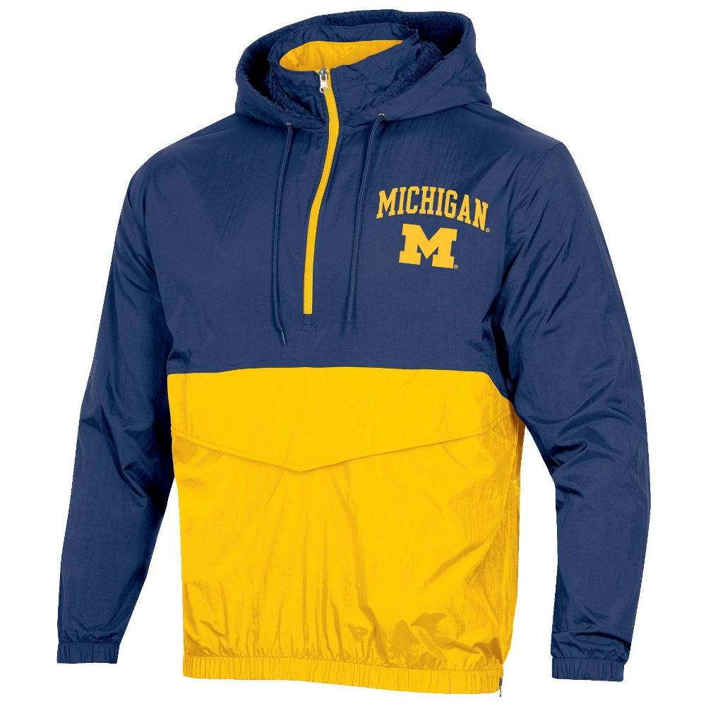 Ncaa Michigan Wolverines Men 39 S 1 4 Zip Windbreaker Jacket S