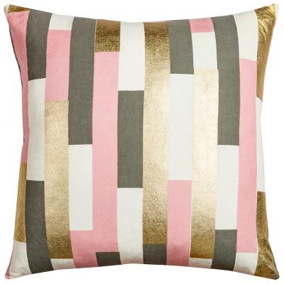 Rachel Kate Stripe Throw Pillow Pink