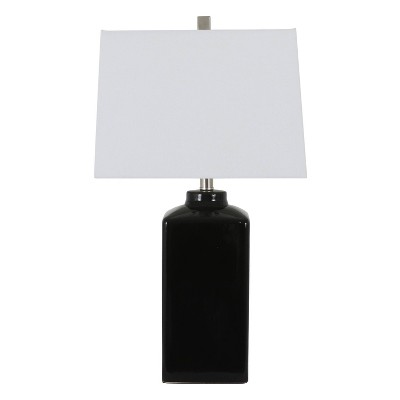 """26.5"""" Kennedy Ceramic Table Lamp Black - Decor Therapy"""