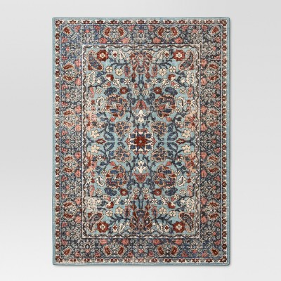 Blue Floral Tufted Area Rug 5'X7' - Threshold™