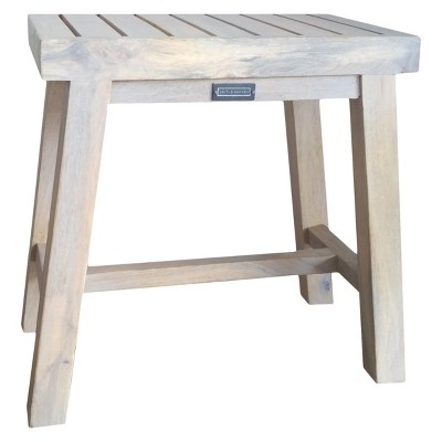 16  x 10  Decorative Wooden Accent Stool Natural - Smith & Hawken™