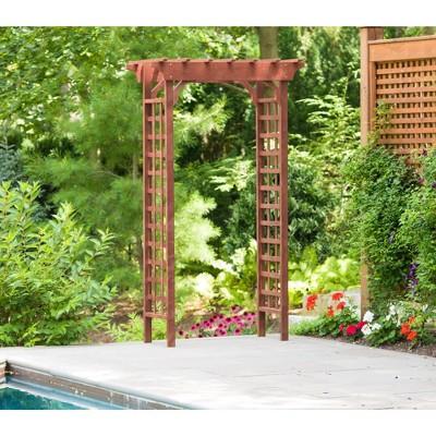 "83"" Cedar Garden Decorative Structures Arbor - Brown - Leisure Season"