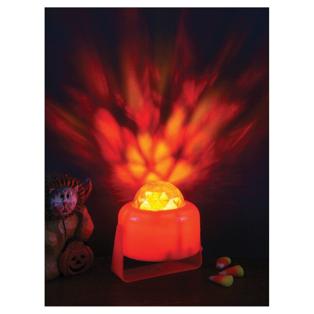 Image of Halloween Pumpkin Lite Flaming, Multi-Colored