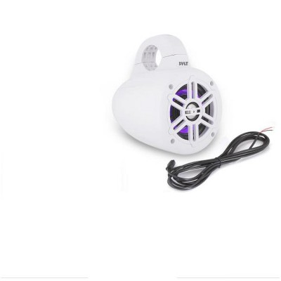 Pyle PLMRLEWB47WB 4 Inch 300 Watt Bluetooth Wireless Streaming Waterproof Marine Grade Tower Speaker System with LED Lights (4 Speakers)