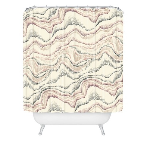 Marble Sketch Shower Curtain Buff Beige - Deny Designs - image 1 of 2