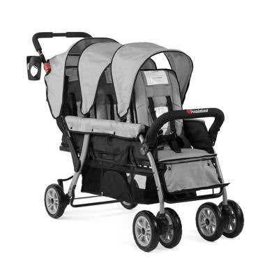 Foundations Trio Sport 3-Passenger Stroller - Gray