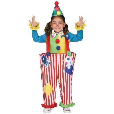 Kids' Crazy Clown Halloween Costume - 4-6T