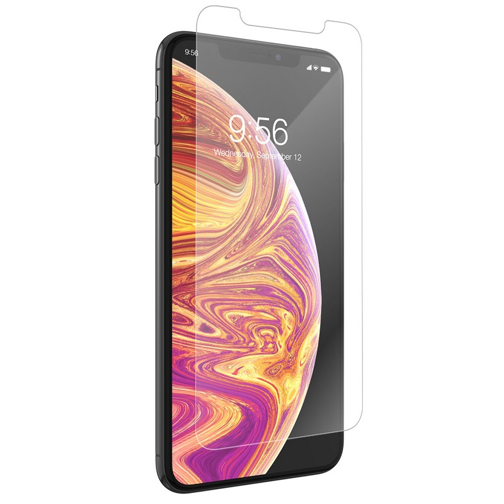 Zagg Apple iPhone XS Max InvisibleShield Glass+ Smudge Proof Screen Protector, Clear Zagg Apple iPhone XS Max InvisibleShield Glass+ Smudge Proof Screen Protector Color: Clear. Pattern: Solid.