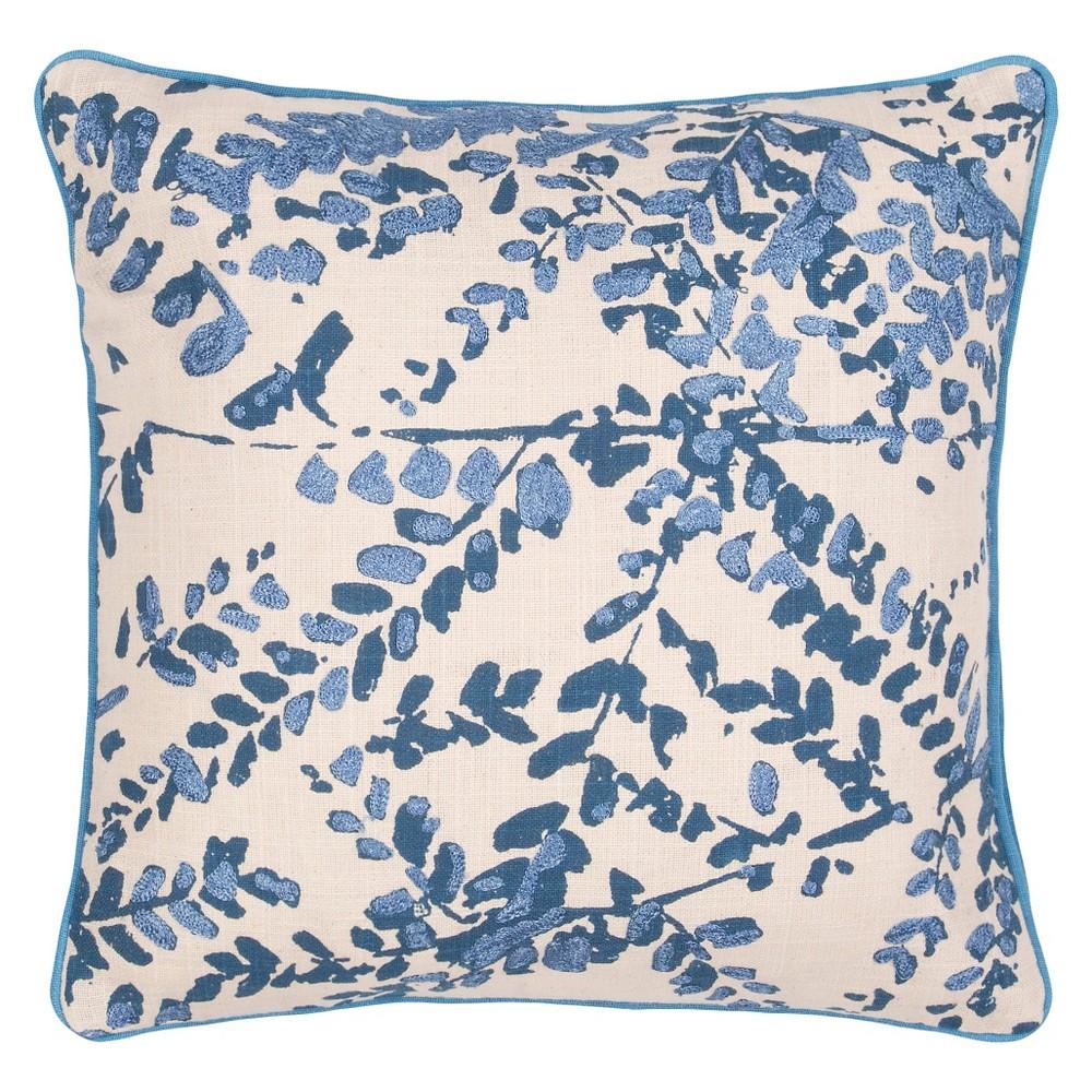 Image of Blue En Casa By Luli Sanchez Throw Pillow - Jaipur