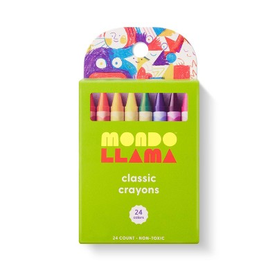 24ct Crayons Classic Colors - Mondo Llama™