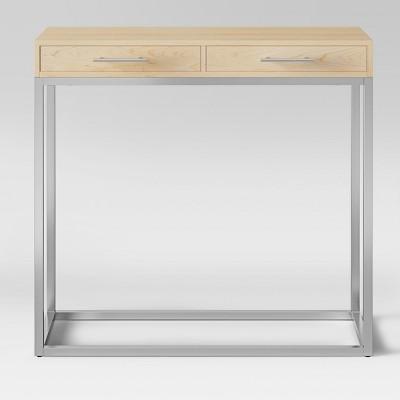 Maison Console Table Chrome Wood   Project 62™