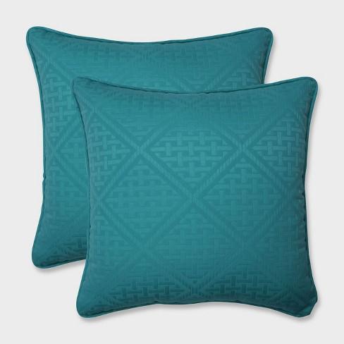 """18.5"""" 2pk Paragon Maui Throw Pillows Green - Pillow Perfect - image 1 of 1"""
