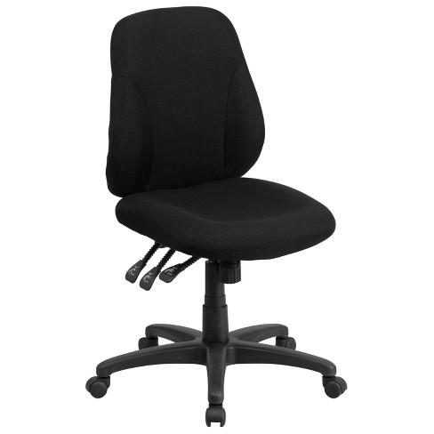 Multi-Functional Ergonomic Swivel Task Chair Black - Flash Furniture - image 1 of 4