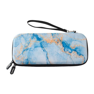 Insten Carrying Case For Nintendo Switch and OLED Model, Hard Shell Protective Pattern Travel Bag with Game Card & Gaming Accessories Storage, Marble